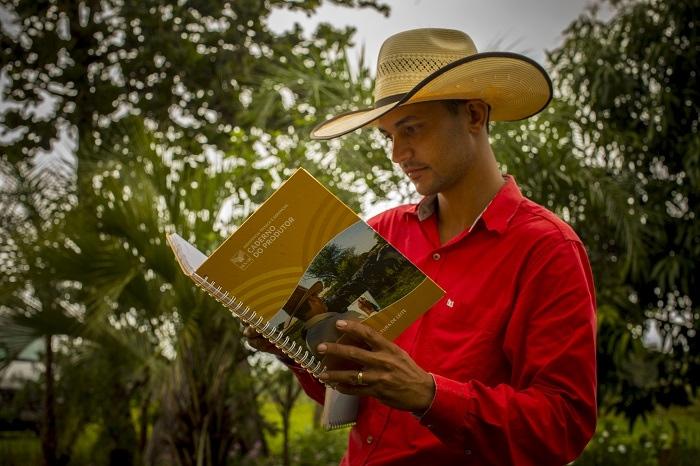 Produtor rural atendido pelo Projeto em Goiás.
