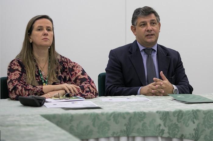 Andréa Barbosa, diretora de Educação Profissional e Promoção Social do Senar e o diretor-geral do Senar, Daniel Carrara