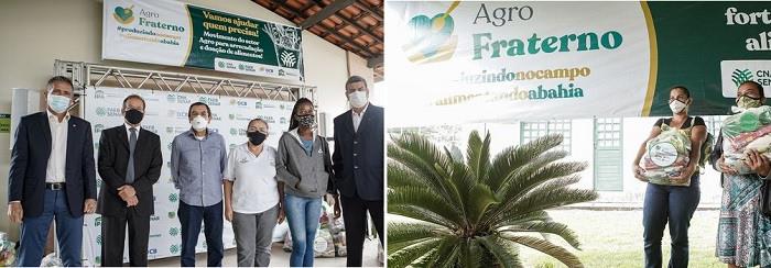 Doação de alimentos na Bahia