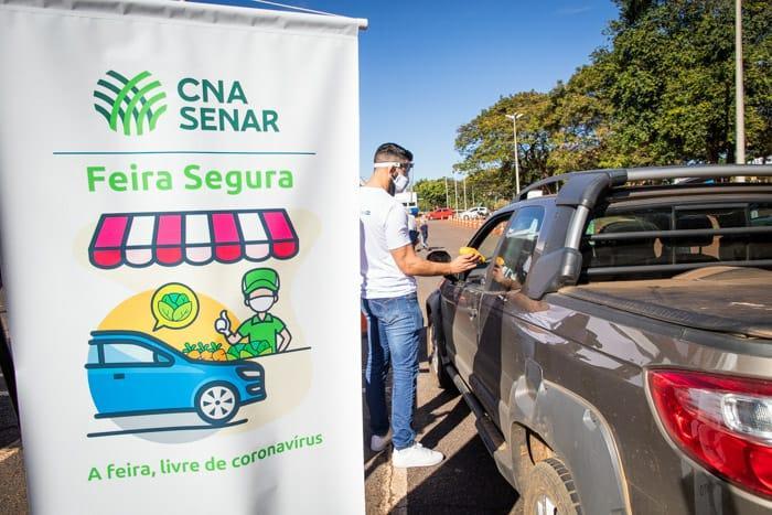 Primeira edição da Feira Segura exclusivamente drive thru em Brasília