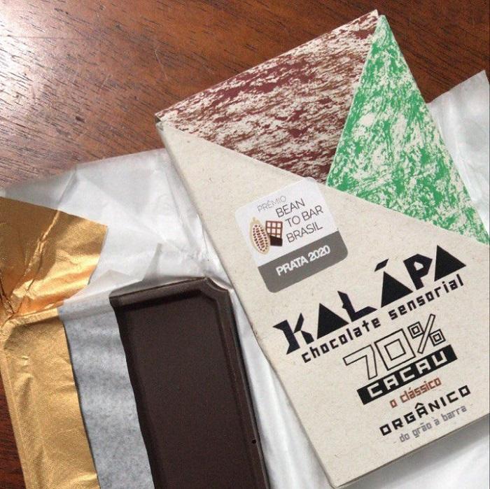 O chocolate artesanal 70% da Kalapa é duplamente premiado