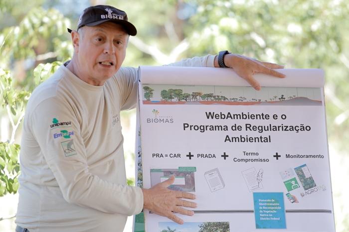 O coordenador do Biomas Cerrado e pesquisador da Embrapa Cerrados, Felipe Ribeiro