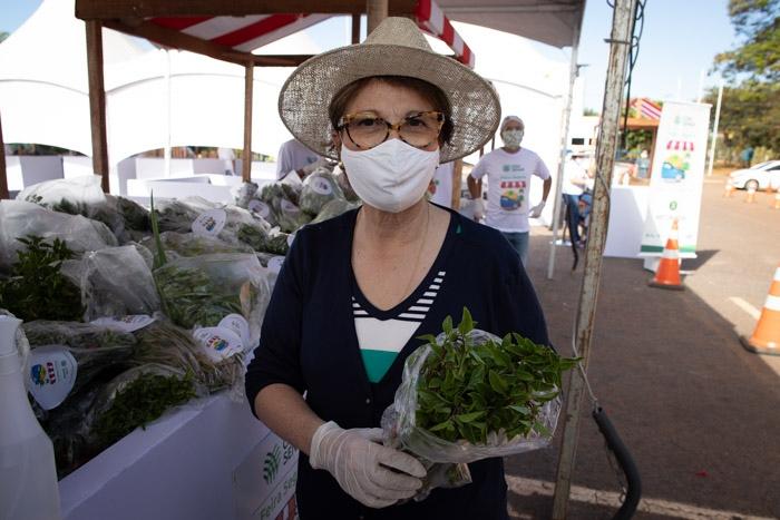 A ministra da agricultura, Tereza Cristina, prestigiou o evento