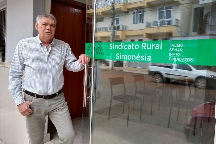 O presidente do Sindicato de Produtores Rurais de Simonésia, Sebastião Martins
