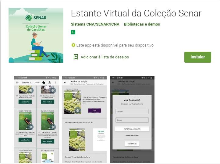 O app está disponível para dispositivos Android e IOS