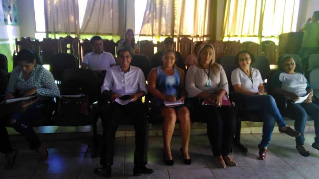 Prefeito de Porto Acre e secretários participaram da apresentação. Foto: Reprodução