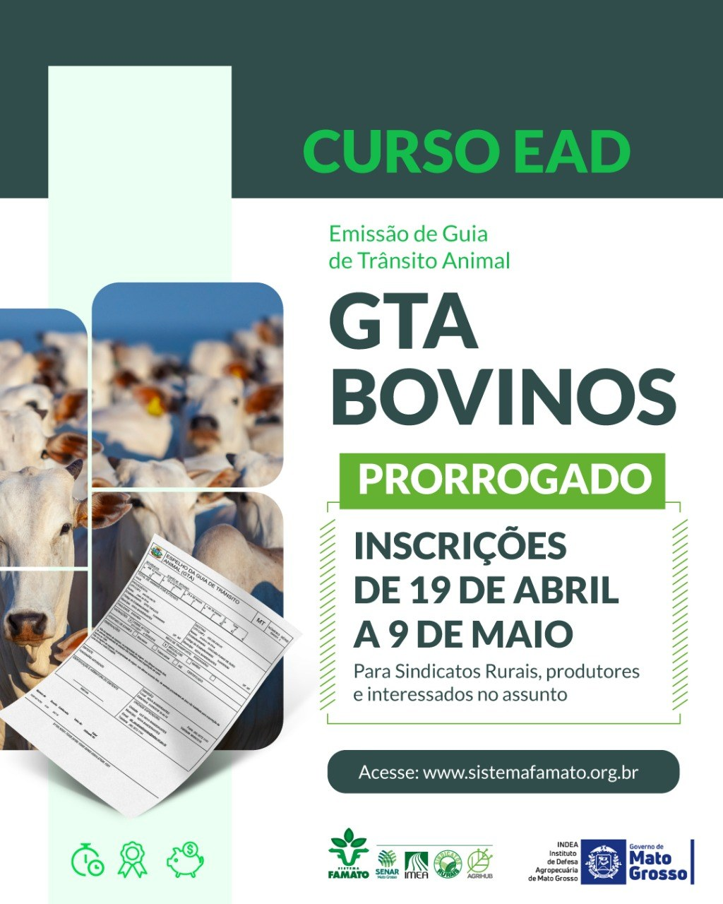 Sistema Famato Oferece Curso Ead De Emissao Da Gta De Bovinos Confederacao Da Agricultura E Pecuaria Do Brasil Cna